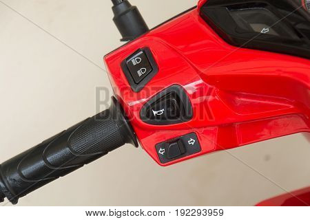 engine stop knob switch on an motorcycle