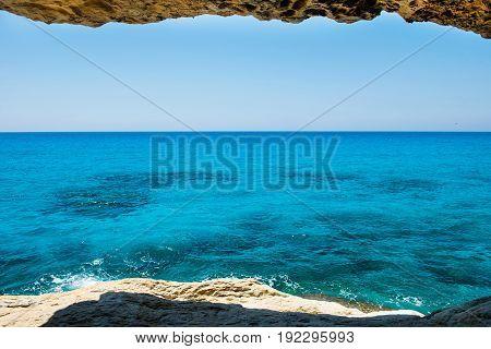Sea Caves Near Ayia Napa, Mediterranean Sea Coast, Cyprus