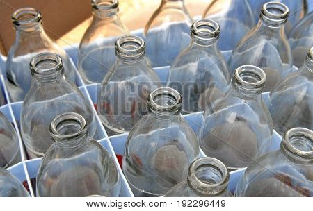 Used Soda Water Glass Bottle