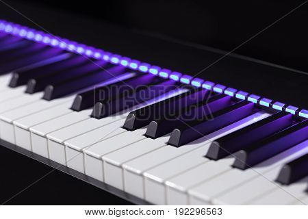 Professional Electric Piano With Violet Lights