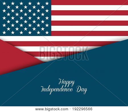 Fourth of July. Independence day greeting card, poster, flyer. Patriotic banner for website template