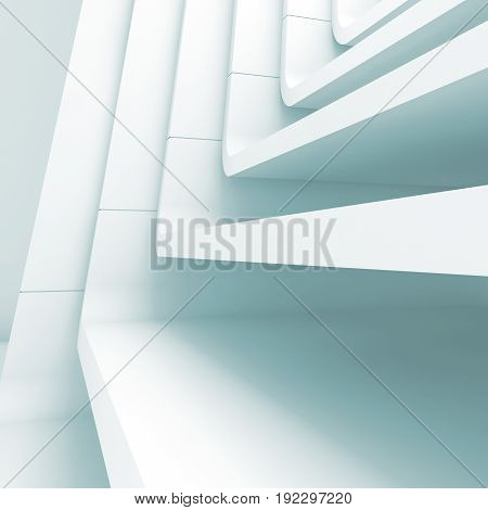 Blue Toned Abstract Architecture Background