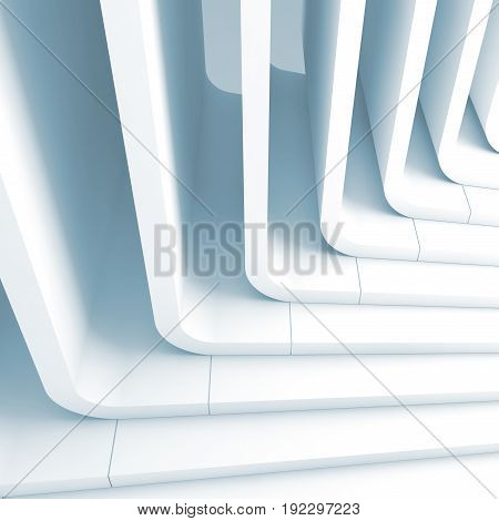 Blue Toned Abstract Background 3D