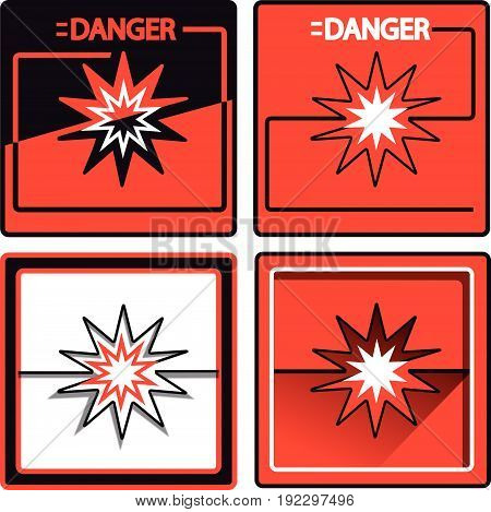 danger vector sign red and black collors