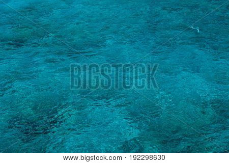 Natural Background Of Emerald, Turquoise Sea Water