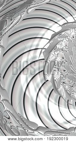 Abstract textured swirl pattern. Bold colorful 3D illustration.