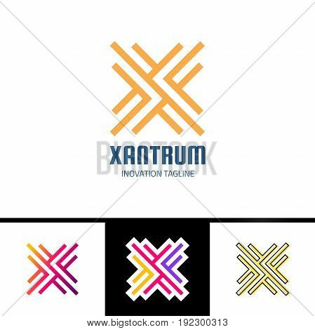 Vector Graphic Creative Line Alphabet Logotype Symbol Or Letter X Logo