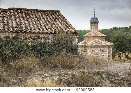 la Virgen del Rosario Hermitage in Luco de Jiloca (Entrebasaguas), province of Teruel, Spain