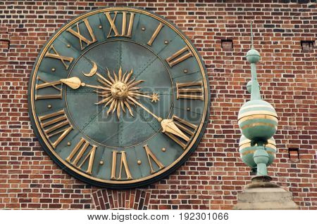 The clock of the old tower in Krakow