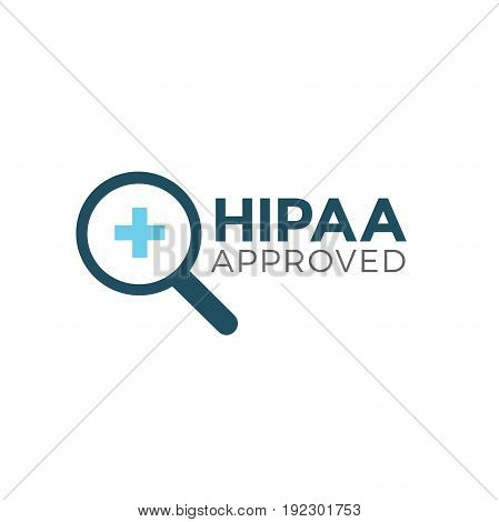 HIPAA Compliance Icon Graphic - APPROVED with magnifier