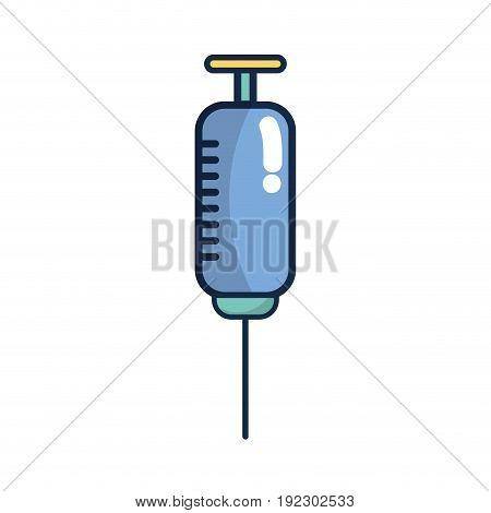 syringe element to healthcare treatment vector illustration