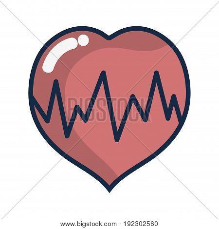 medical heartbeat to cardiac rhythm vector illustration