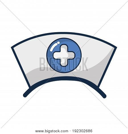 nurse hat element that used in the hospital vector illustration