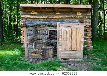 Old Rustic Chicken Coop On A Homestead