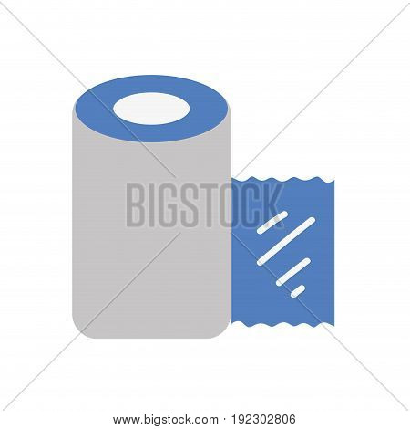 gauze to cure of people and medical element vector illustration