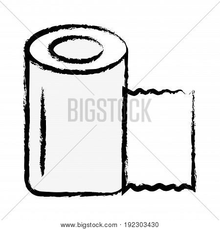 figure gauze to cure of people and medical element vector illustration