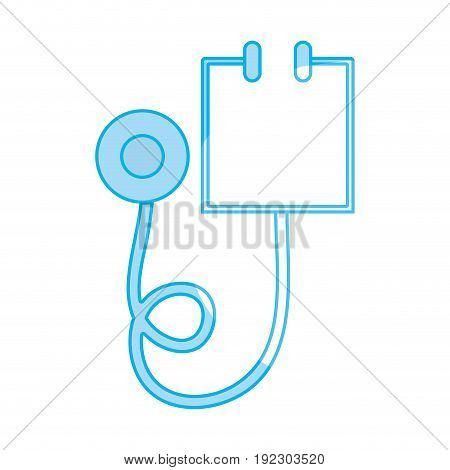 silhouette medical stethoscope tool and cardiology element vector illustration