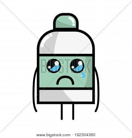 kawaii cute crying ointment pharmaceutical medicine vector illustration