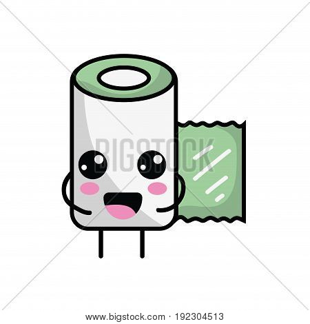 kawaii cute happy gauze medical tool vector illlustration