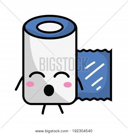 kawaii cute funny gauze medical tool vector illlustration