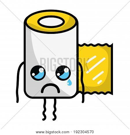kawaii cute crying gauze medical tool vector illlustration