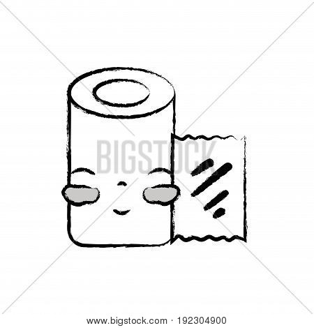 figure kawaii cute tender gauze medical tool vector illlustration