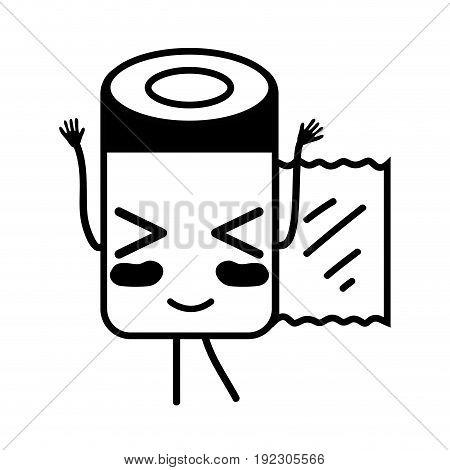 contour kawaii cute funny pill pharmaceutical medicine vector illustration