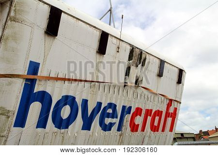 Lee-on-the-solent, Hampshire, Uk - June 10 2017: Vehicle Door Of An Sr.n4 Hovercraft At The Hovercra