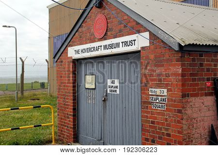 Lee-on-the-solent, Hampshire, Uk - June 10 2017: Brick Built Shed With The Inscription