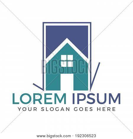Home vector logo design. Property and construction logo.