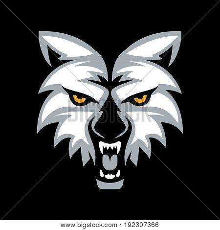 Wolf head mascot vector design. sports sign.