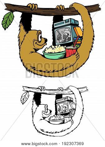 Portable video viewing system is perfect for Sloth.