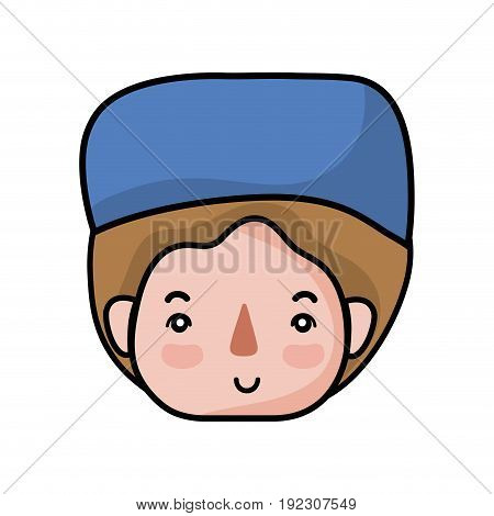 specialist man head with medical hat vector illustration