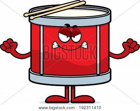 Angry Cartoon Drum