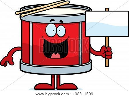 Cartoon Drum Sign