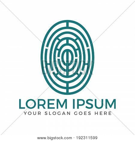 Fingerprint vector logo design. Fingerprint Concept design.