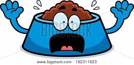 Scared Cartoon Dog Bowl