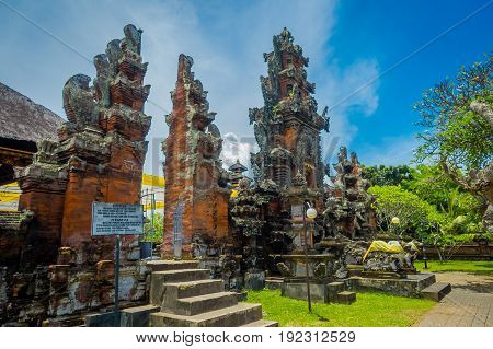 BALI, INDONESIA - MARCH 05, 2017: Pura Ulun Danu Bratan is a major Shivaite and water temple on Bali island, Indonesia.