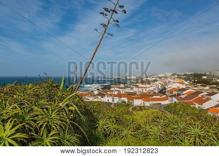 Viewpoint Of The Ocean Coast At Sao Rogue On The Sao Miguel Island