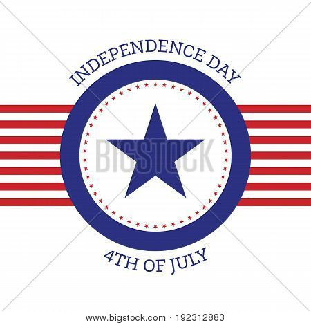 4th of July independence day United States of America background flat design vector illustration