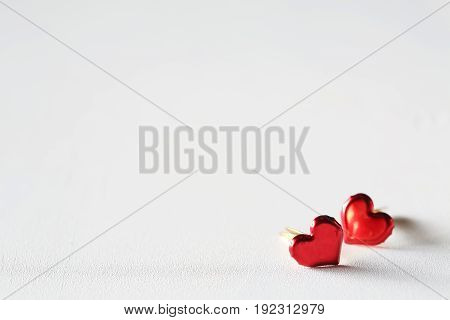 Valentine's day theme with heart shaped ornaments