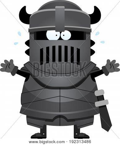 Scared Cartoon Black Knight