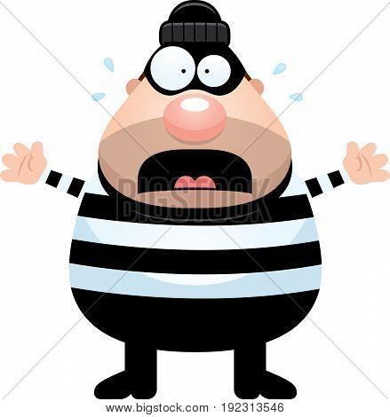 Scared Cartoon Burglar