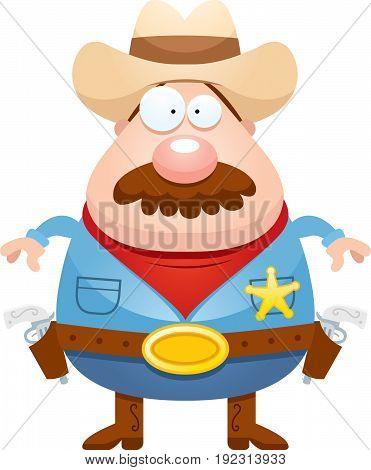Cartoon Sheriff Mustache
