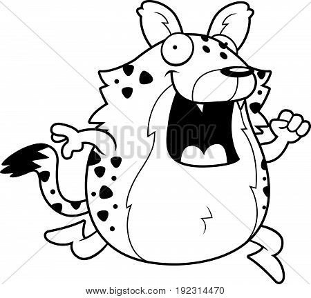 Cartoon Hyena Running