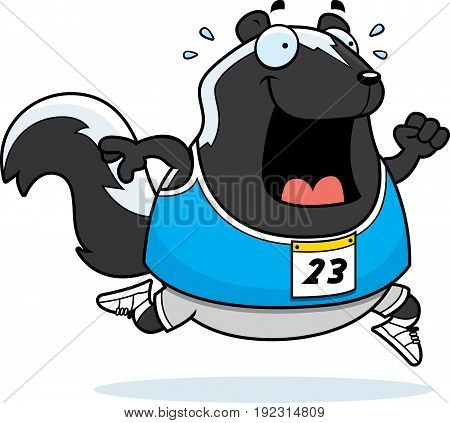 Cartoon Skunk Running Race
