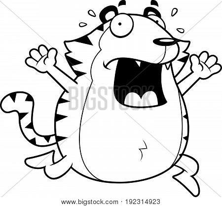Cartoon Tiger Panic