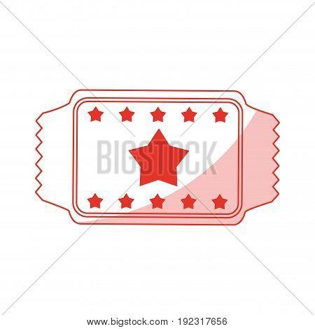 Flat line monocromatic ticket over white background vector illustration