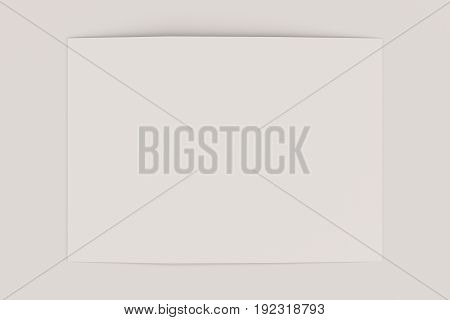 Blank White Open Three Fold Brochure Mockup On Black Background