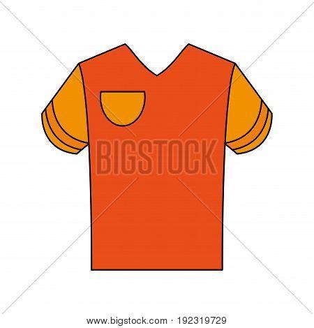Orange shirt over white background vector illustration